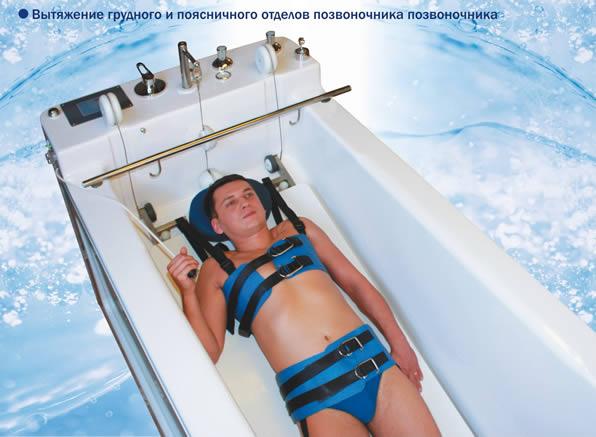 Автоматизированный комплекс горизонтального подводного вытяжения со встроенным механизмом подъема пациента