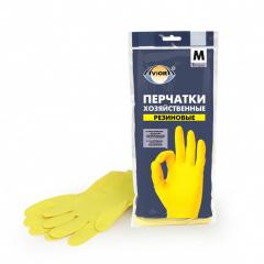 Перчатки хозяйственные резиновые (Размер M)
