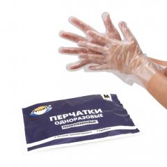 Перчатки полиэтиленовые (Размер М)