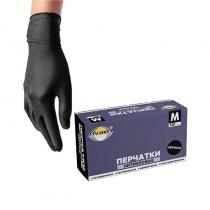 """Перчатки нитриловые черные """"AVIORA"""" (Размер M)"""