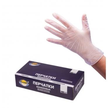"""Перчатки виниловые """"AVIORA"""" (Размер L)"""