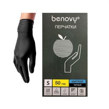 """Перчатки нитриловые чёрные """"BENOVY"""""""
