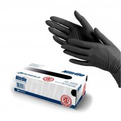 Перчатки нитриловые черные (Размер S)