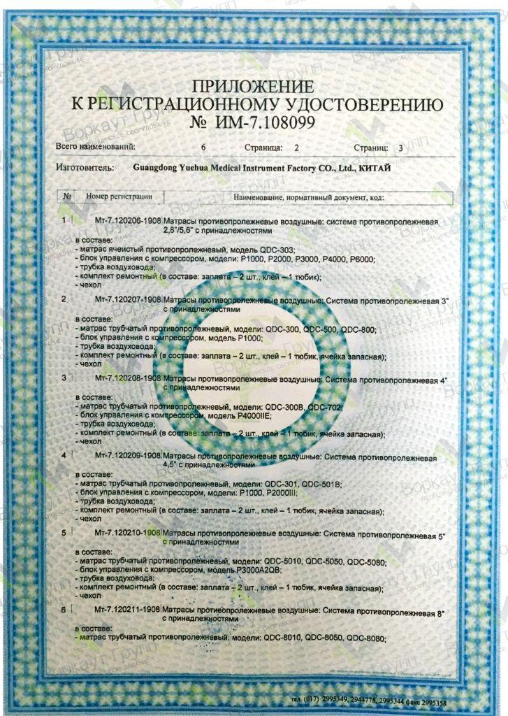 Регистрационное матрасы противопролежневые