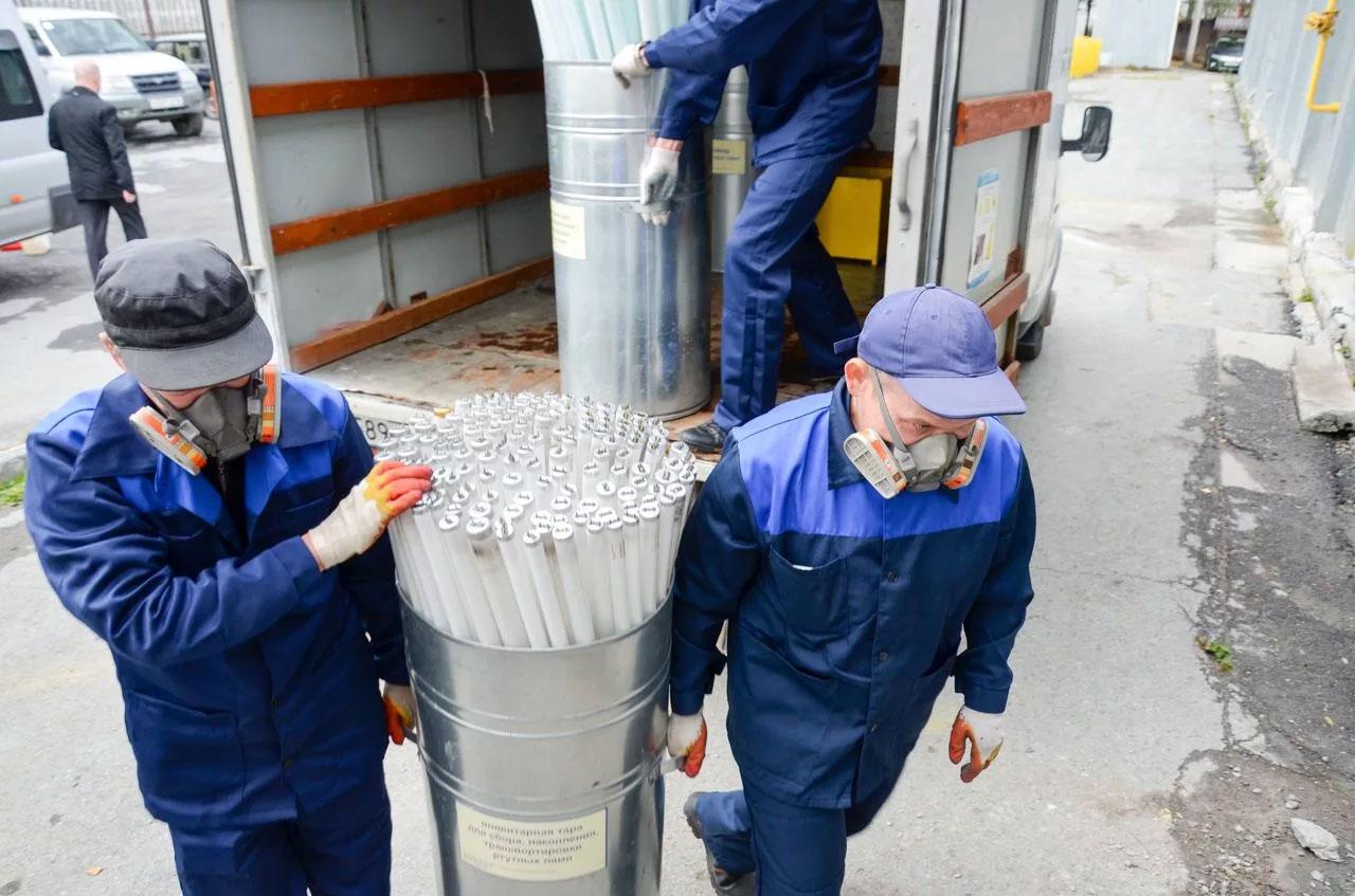 Утилизация бактерицидных ламп спецслужбами