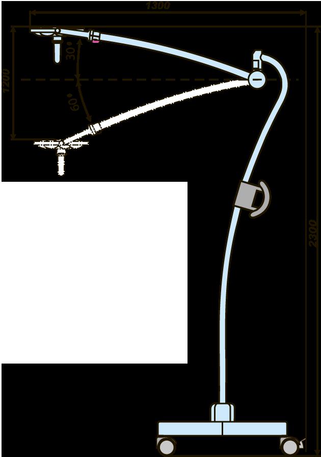Светильник передвижной бестеновой светодиодный ЭМАЛЕД